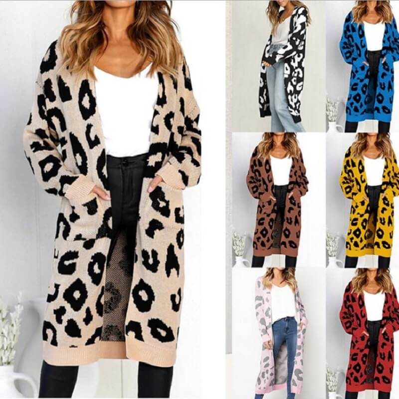 Plus Size Leopard Sweater - main picture