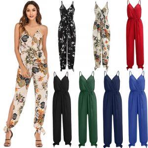 Plus Size Floral Jumpsuit  - main picture