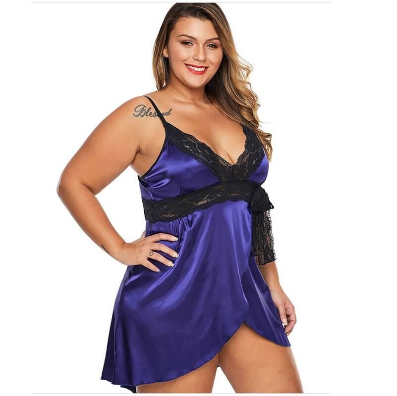 Quality Plus Size Lingerie - purple side