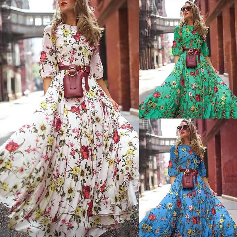 Plus Size Boho Maxi Dresses - main picture