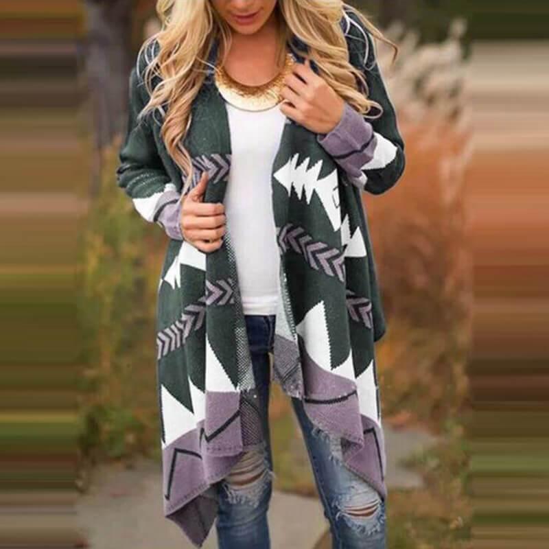 Plus Size Black Cardigan Sweater - gray color