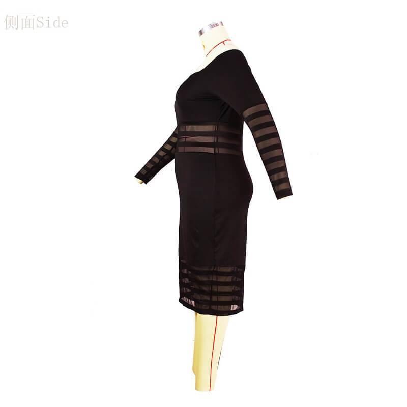 Cheap Plus Size Summer Dresses - black left