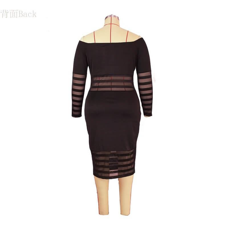 Cheap Plus Size Summer Dresses - black model picture