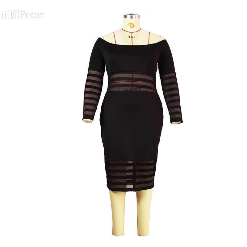 Cheap Plus Size Summer Dresses - black color