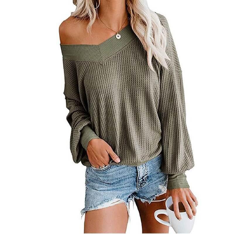Plus Size Black Tee Shirt - green color
