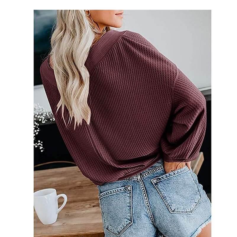 Plus Size Black Tee Shirt -wine color