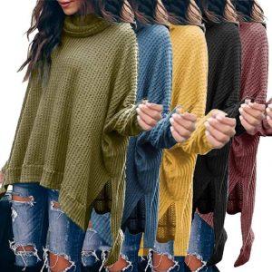 Plus Size Turtleneck Sweater - main picture