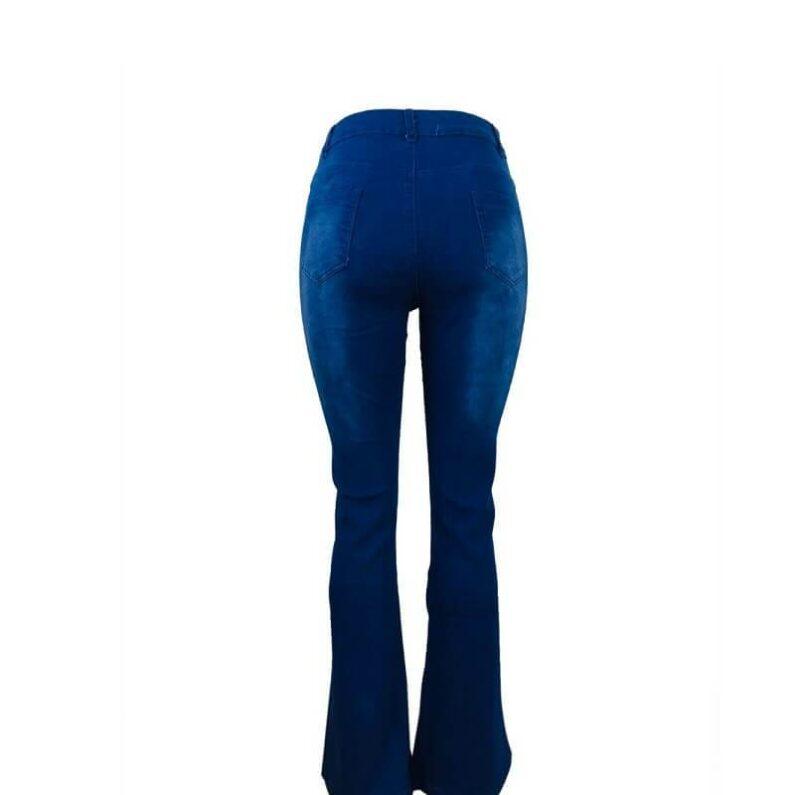 Skinny Plus Size Jeans - blue back