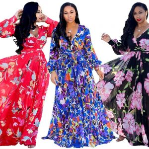 Plus Size Chiffon Dresses - three colors