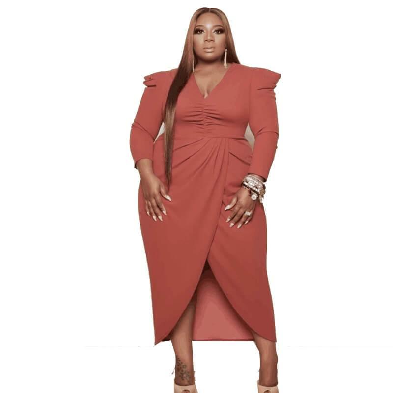 Plus Size Babydoll Dress- pink positive