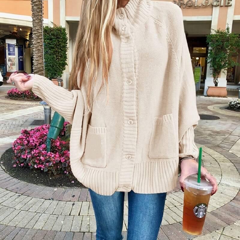 Plus Size Fleece Coat - off white  color