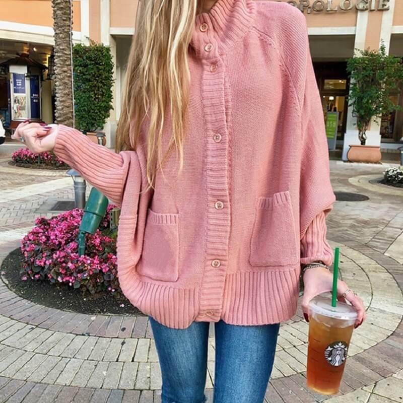 Plus Size Fleece Coat - pink color