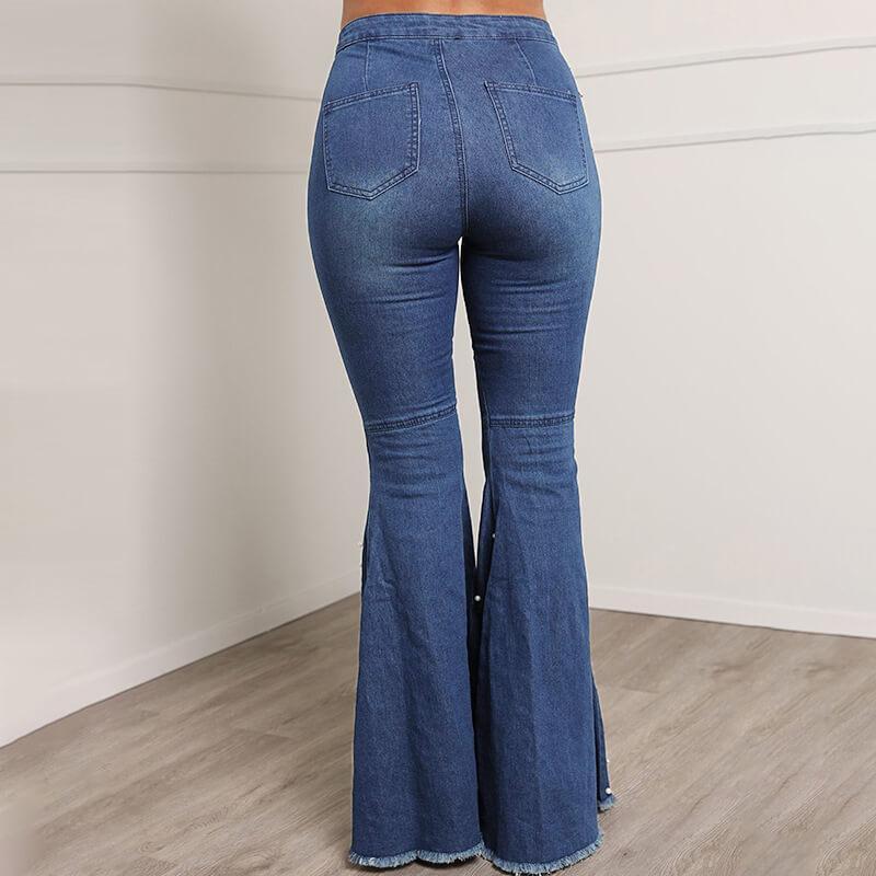 Grey Plus Size Jeans - blue back