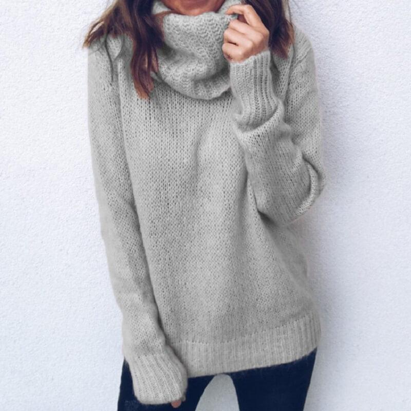 Plus Size Gray Sweater - gray color