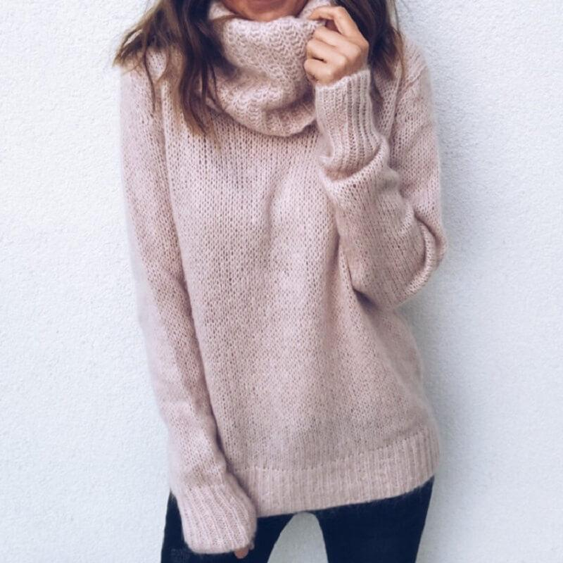 Plus Size Gray Sweater - pink color