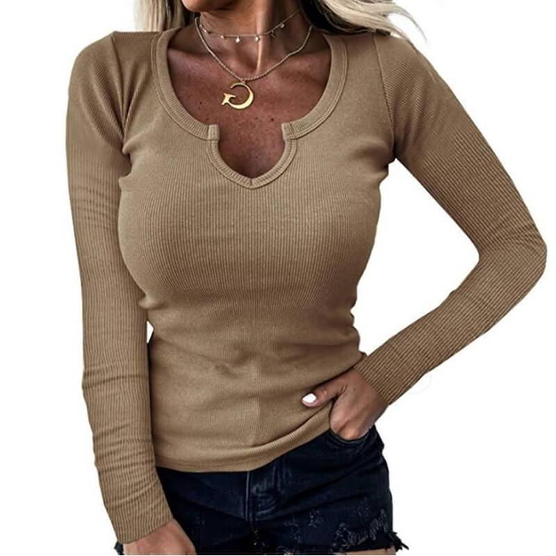 Plus Size Grey Shirt - khat color