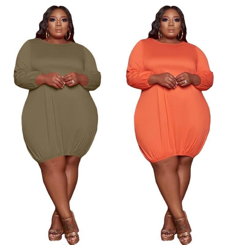 Plus Size Wrap Dress - two colors positive