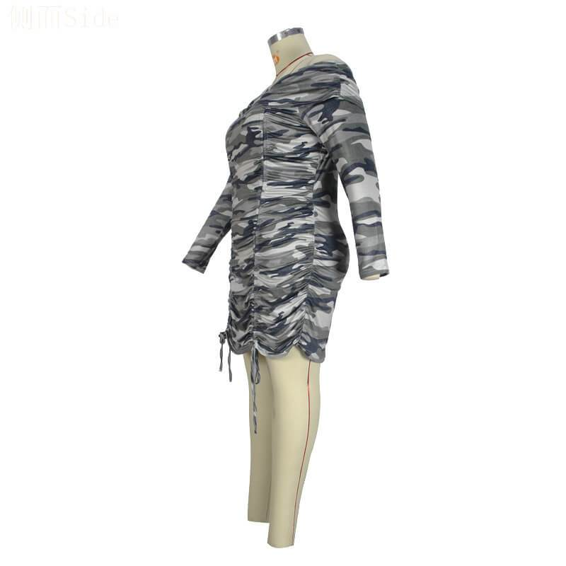 Dresses For Curvy Women - camouflage whole left