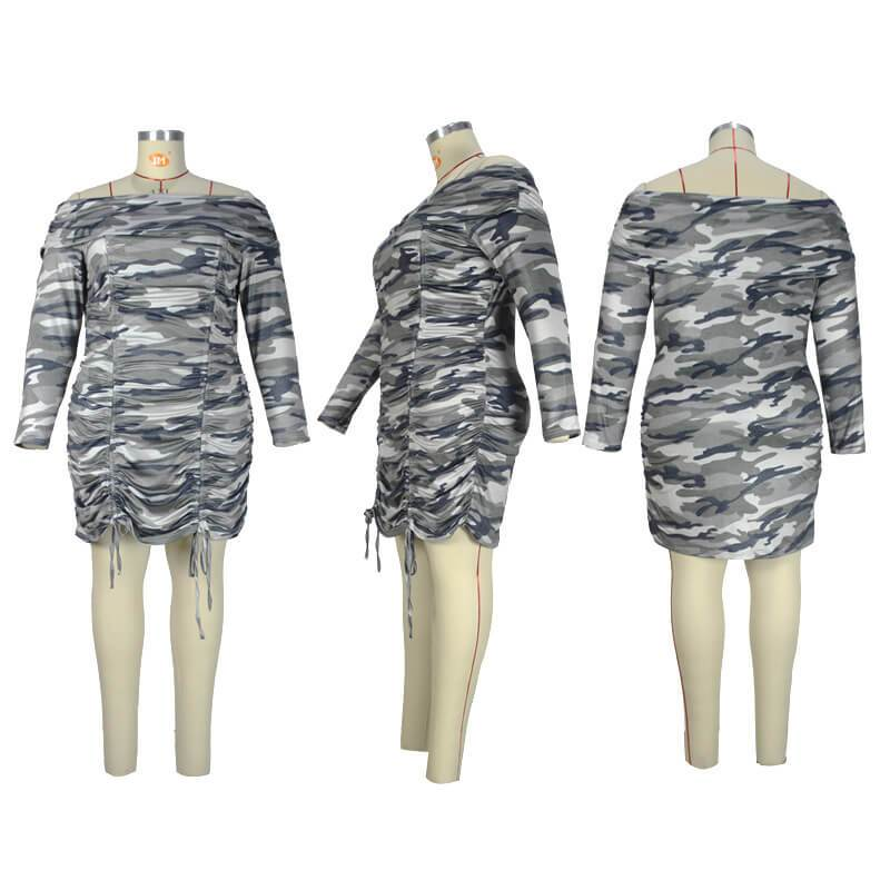 Dresses For Curvy Women - camouflage whole model picture
