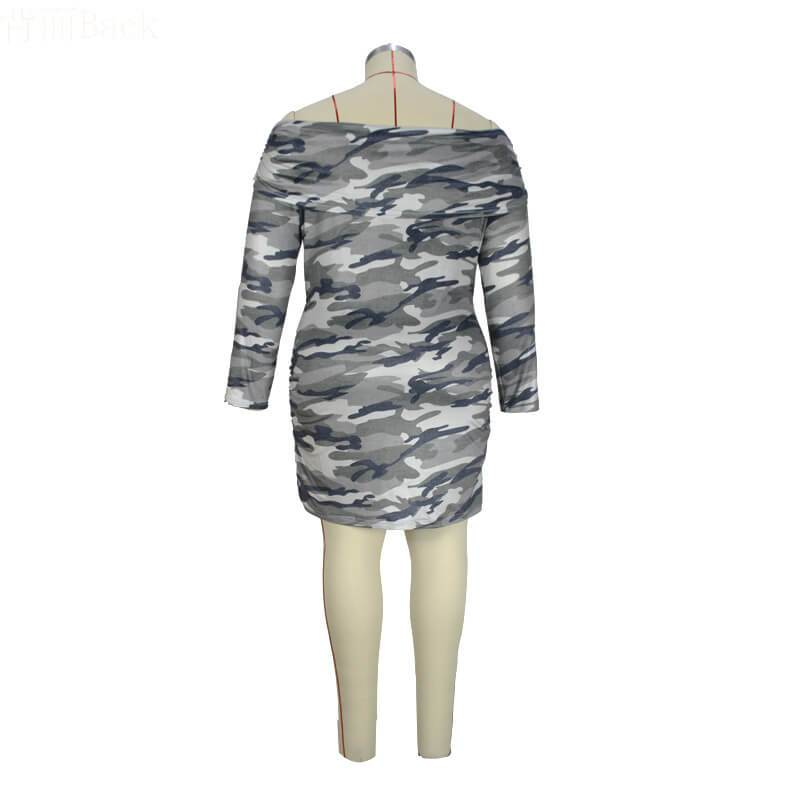 Dresses For Curvy Women - camouflage whole back