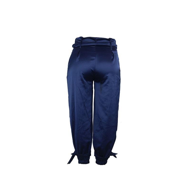 Plus Size Baggy Jeans - blue back