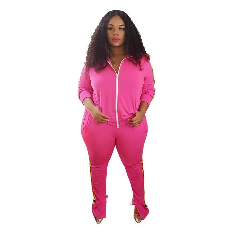 Plus Size Large Sports Package - rose red positive