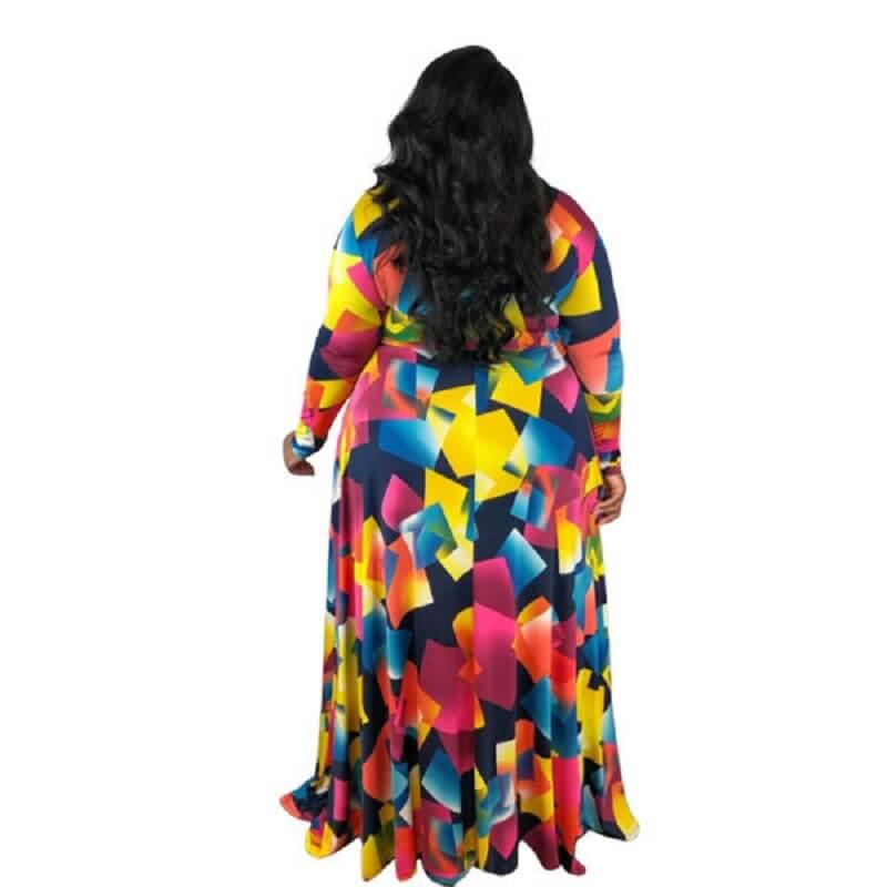 Trendy Plus Size Cocktail Dresses -  multicolor back
