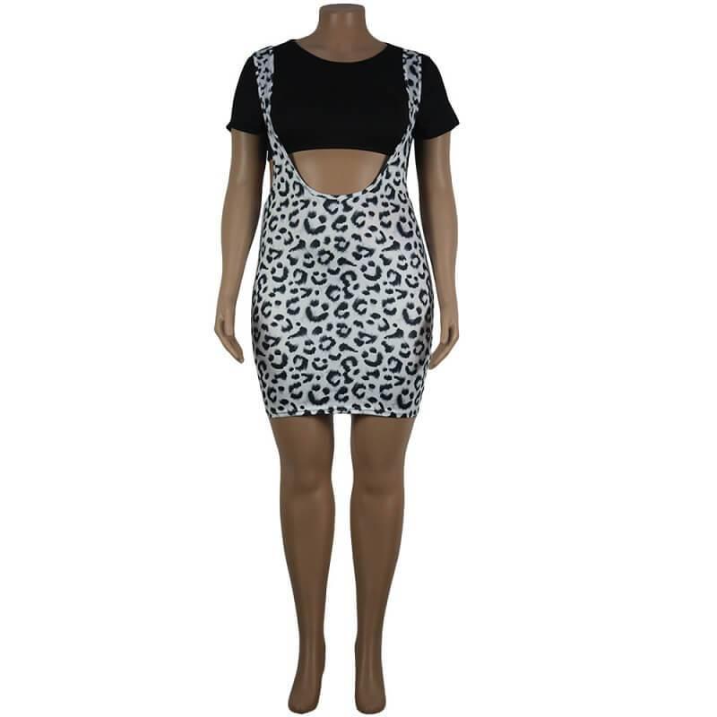 Leopard Print Curve Dresses - leopard print positive