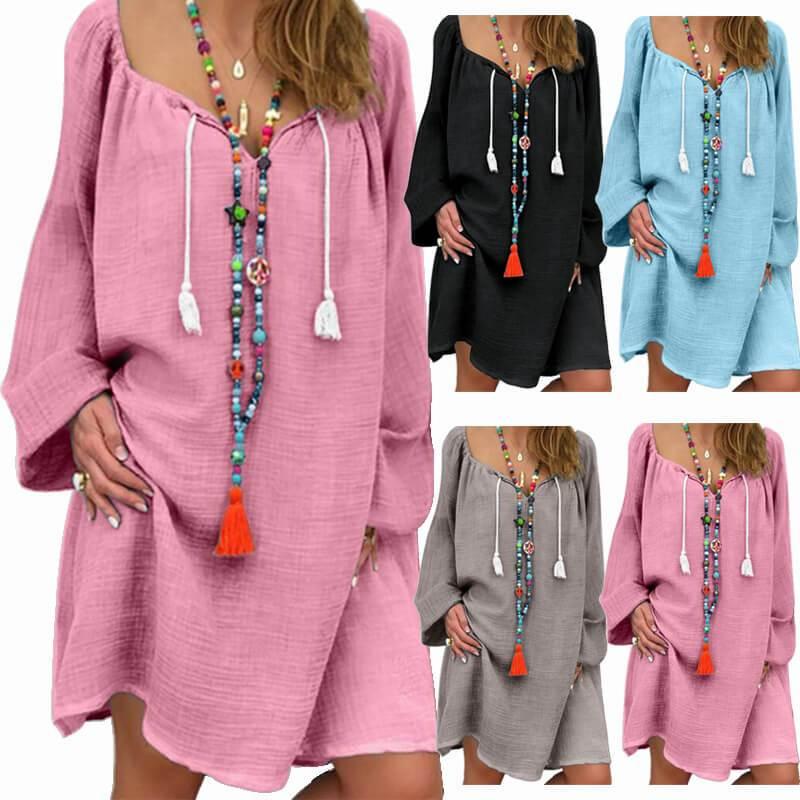 Plus Size Linen Dress - main picture