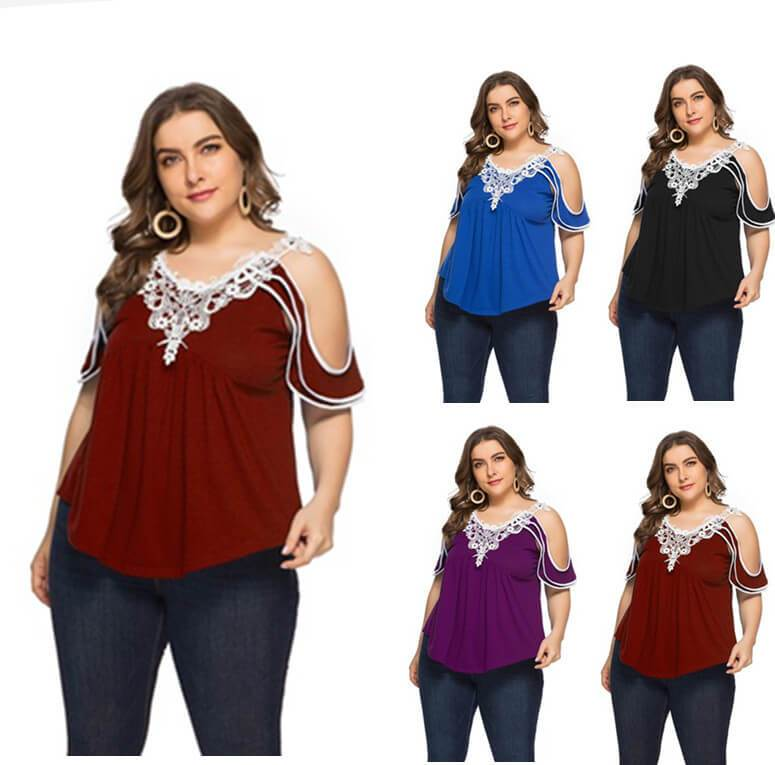 Plus Size Off The Shoulder T Shirt - main picture