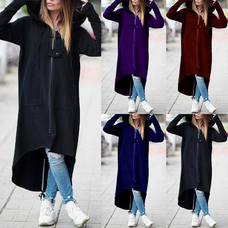 Plus Size Red Coat - five colors