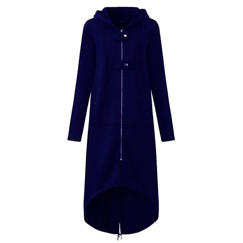 Plus Size Red Coat - dark blue color