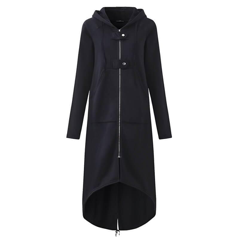 Plus Size Red Coat - black color