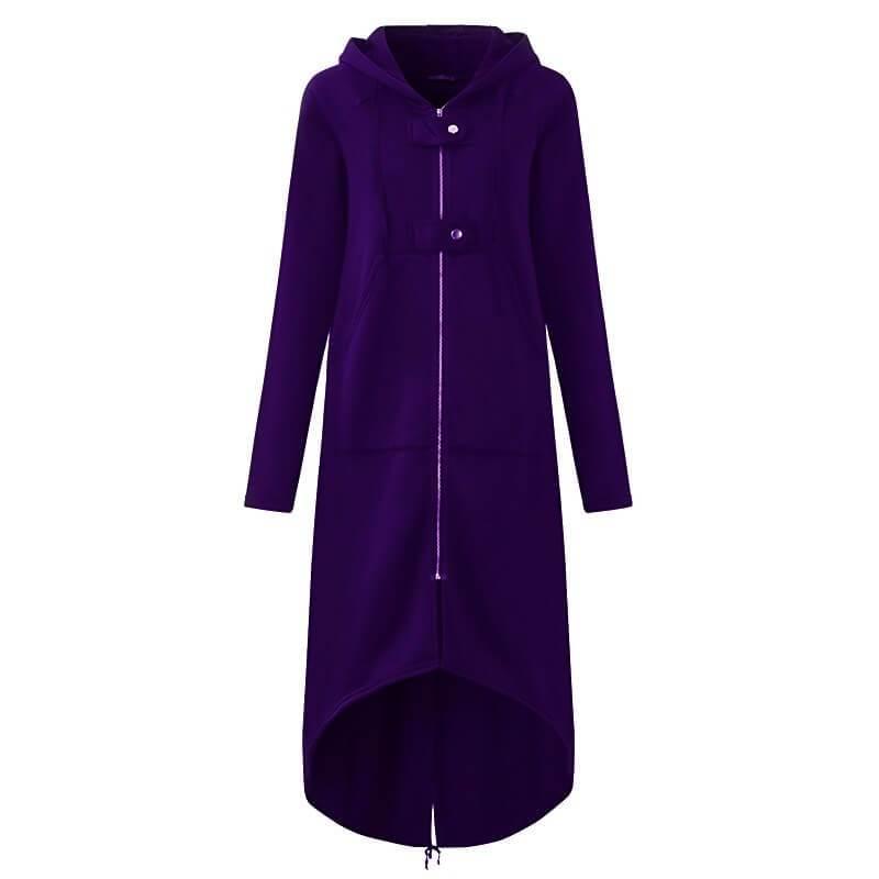 Plus Size Red Coat - purple color