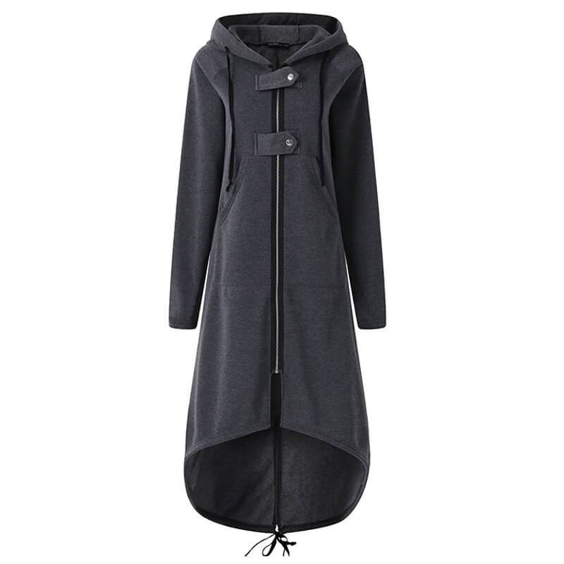 Plus Size Red Coat - gray color
