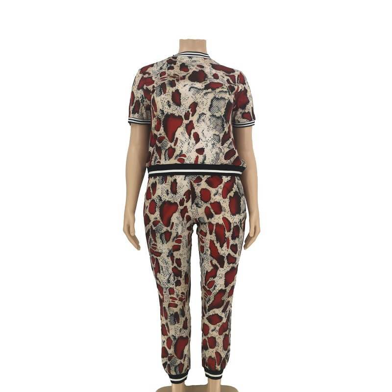 Plus Size Sets Outfits - solid whole body