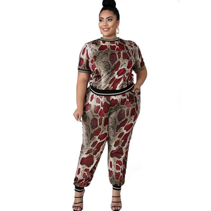 Plus Size Sets Outfits - solid color