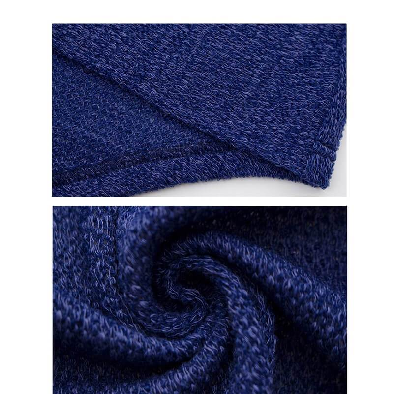 Plus Size Shaggy Sweater - navy detail image