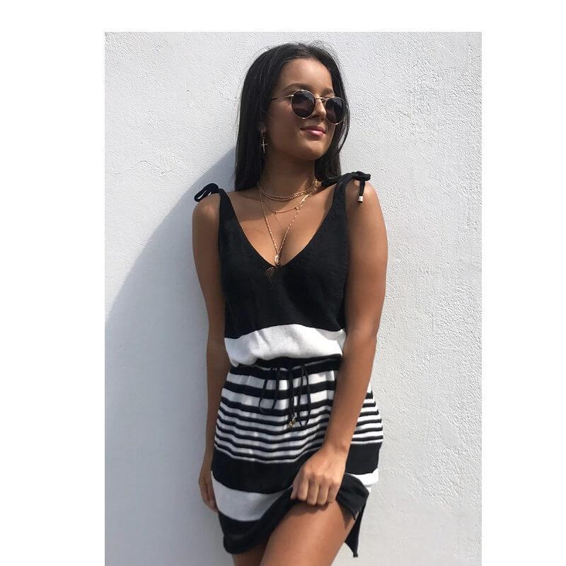 plus size smock dress - black color