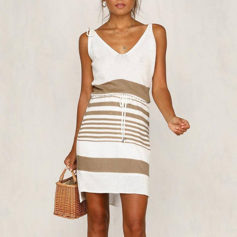 plus size smock dress - khaki positive