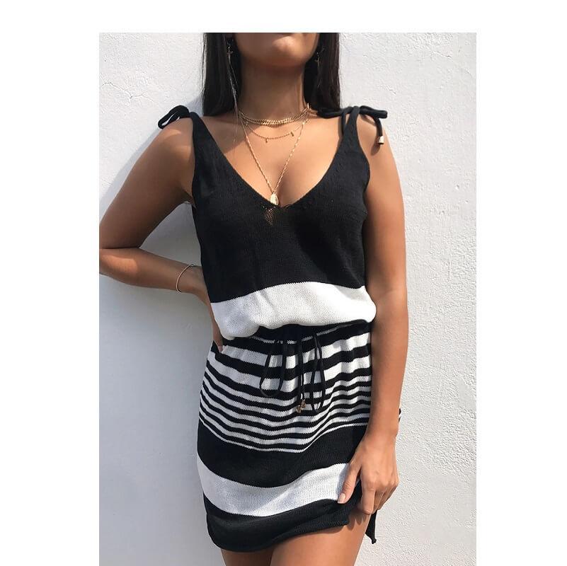 plus size smock dress - black positive