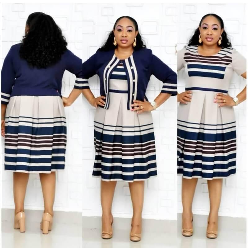Plus Size Skirt Sets - navy color