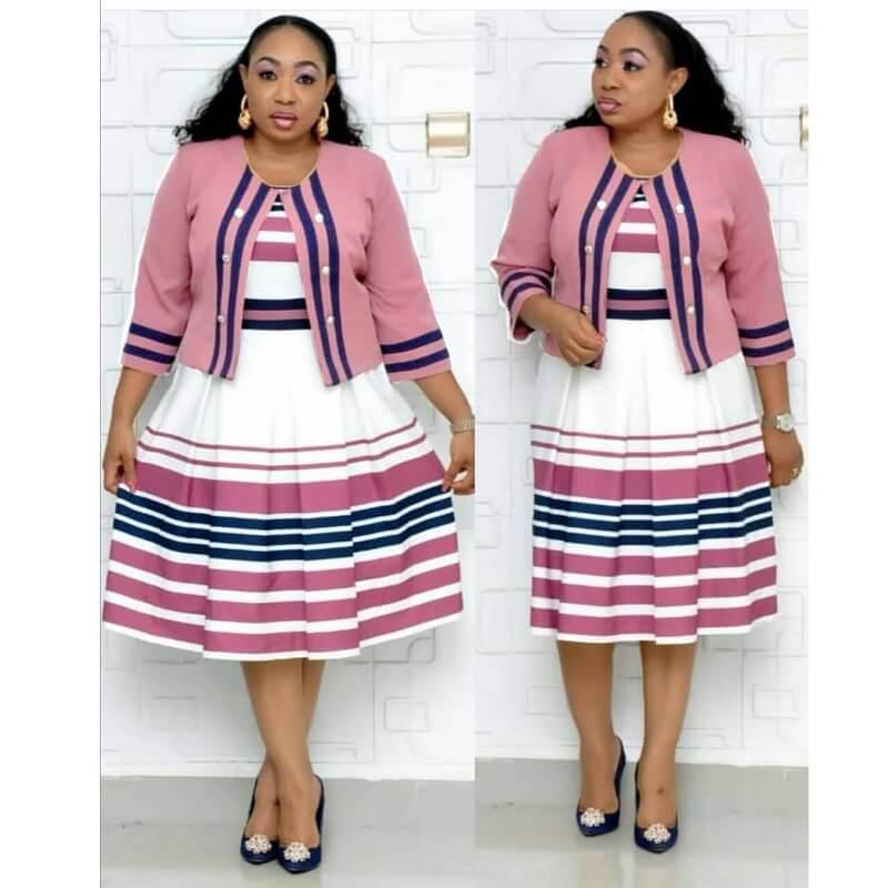 Plus Size Skirt Sets - pink color