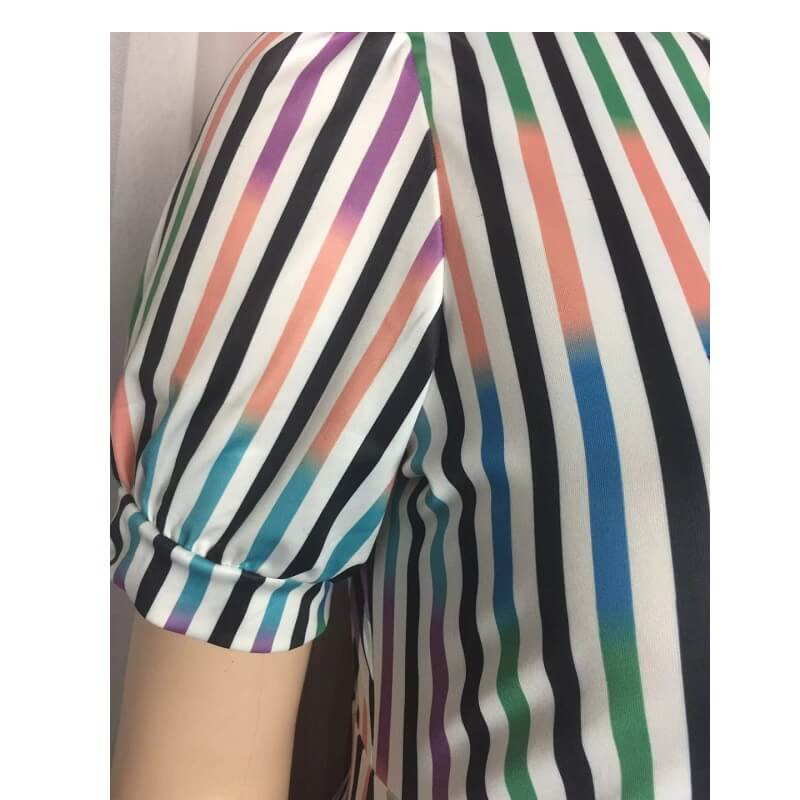 Plus Size African Dresses - color bar detail image