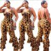 Plus Size Leopard Jumpsuit - main picture