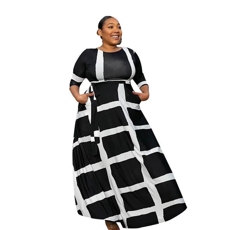 Plus Size Swing Dress - black positive