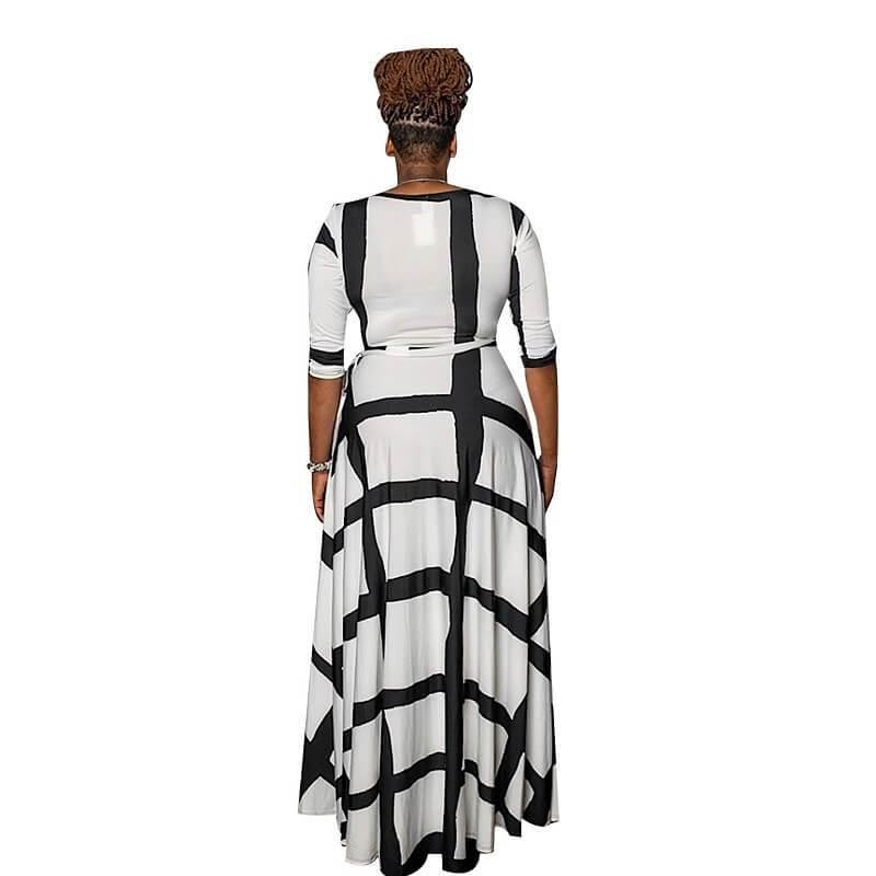 Plus Size Swing Dress - white back
