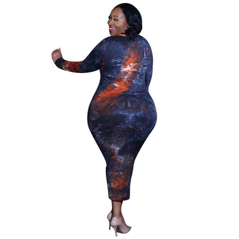 Plus Size Discount Formal Dresses - blue side