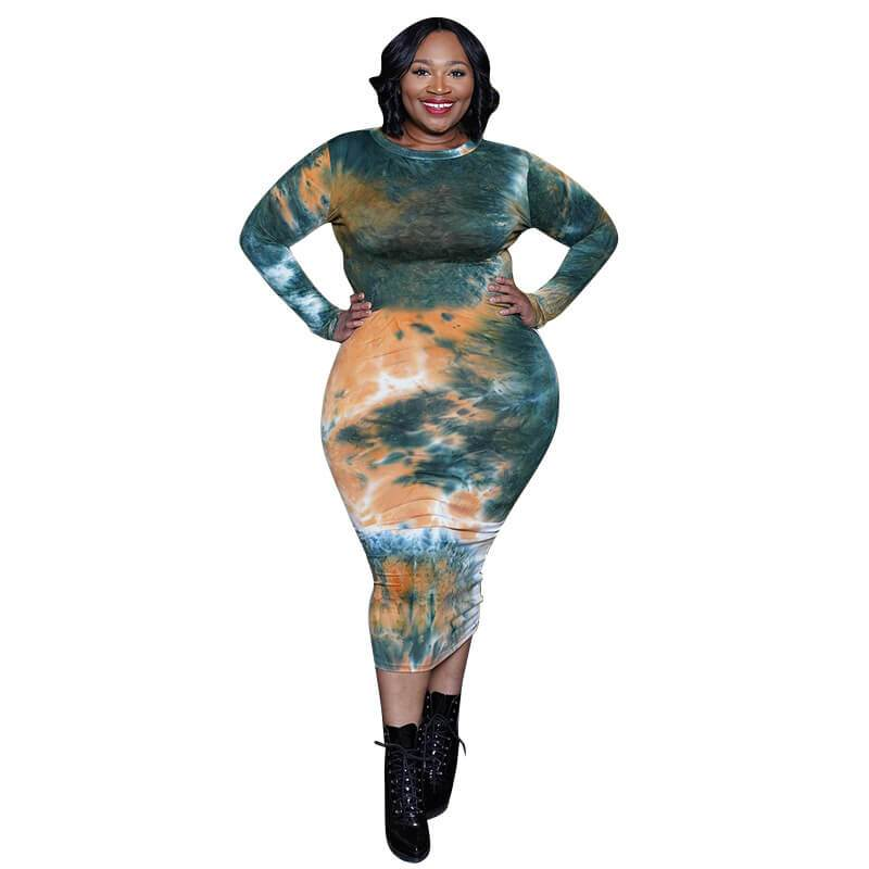 Plus Size Discount Formal Dresses - green color