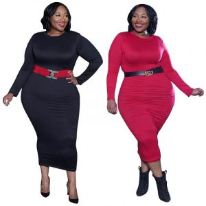 Red plus size Desses - main picture